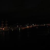 Göteborg om natten från Götaälvbron