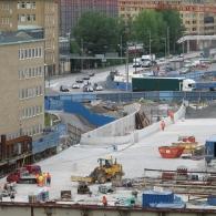Götatunneln under konstruktion